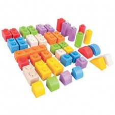 Bigjigs Coloured Click Blocks (100 Pieces)