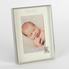 "Bambino Silver Plated Frame with Teddy - Godchild 4"" x 6"""