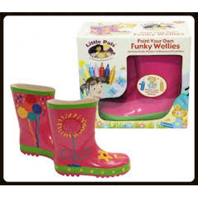 Little Pals- Funky Wellies- Pink (Small)