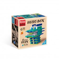 Bioblo construction blocks - 100 blocks - Hello Box Ocean Mix