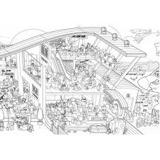 Jumbo Airport Colouring Poster