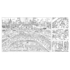 Mocoloco Jumbo London Colouring Poster