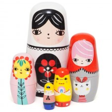 P Nesting Dolls - Fleur & Friends