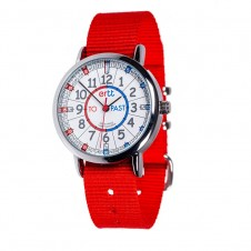 Easy Read Time Teacher Watch - Red Strap, Red/Blue, Past/To