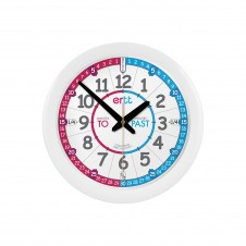 Easy Read Time Teacher 29cm Red/Blue Face Past/To Clock
