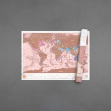 Luckies of London Rose Gold Scratch Map