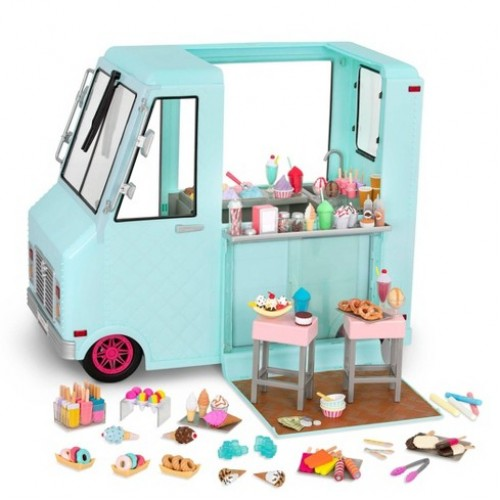 Our Generation Sweet Stop Ice Cream Truck – Blue