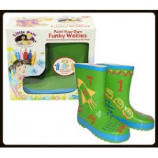 Little Pals- Funky Wellies - Green (Large)