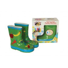 Little Pals- Funky Wellies - Green (Medium)