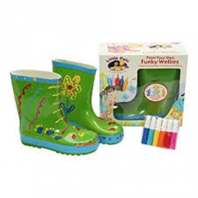Little Pals- Funky Wellies - Green (Small)