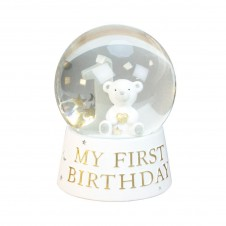 Bambino Resin My 1st Birthday Snow Globe