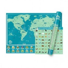 Luckies of London Wild World Scratch Map