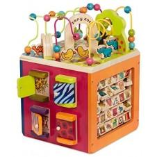 B. Toys - Zany Zoo Wooden Activity Cube