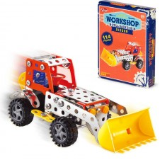 JUNIOR ENGINEER WORKSHOP. PULL BACK AND GO DIGGER(114 PIECES)