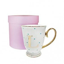 L-Alphabet Spotty Metallic Mug