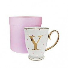Y-Alphabet Spotty Metallic Mug