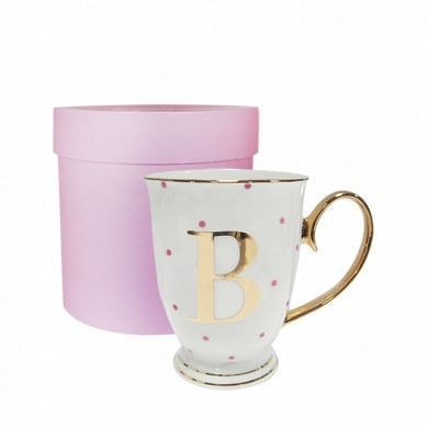 B-Alphabet Spotty Metallic Mug