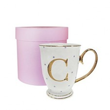 C-Alphabet Spotty Metallic Mug