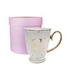 H-Alphabet Spotty Metallic Mug