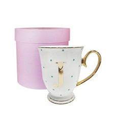 J-Alphabet Spotty Metallic Mug