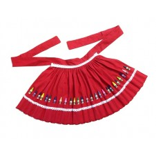 Kraft Box Crayon Apron Red