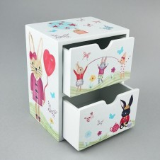 2 Drawer Chest - Bunny Rabbit