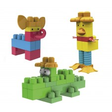 Mega Bloks 70pcs First Builders Funny Animals
