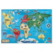 0500pc Map of the World Cardboard