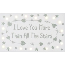 Love You More Than Stars Canvas
