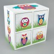 4 Drawer Wooden Chest Owl