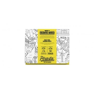 Pirasta What A Colourful World Colouring Sheets