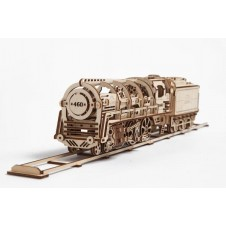 UGEARS - Steam Locomotive with Tender