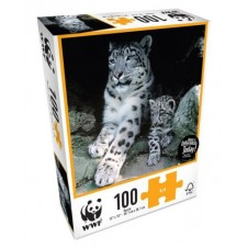 WWF 100 Piece Animal Puzzles - Baby Snow Leopard