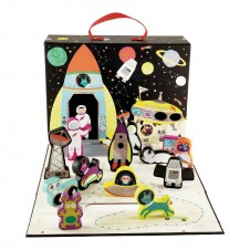 PLAY BOX WITH WOODEN PIECES - SPACE